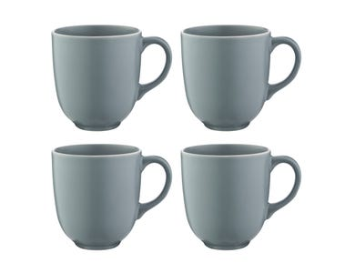 Classic Collection Set Of 4 Grey Mugs 450ml