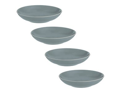 Classic Collection Set Of 4 Grey Pasta Bowls
