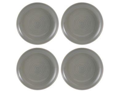 William Mason Set Of 4 Grey Dinner Plates