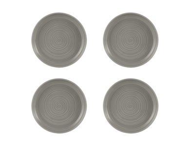 William Mason Set Of 4 Grey Side Plates