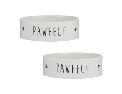 Pawfect Set Of 2 Dog Bowls 15x5cm