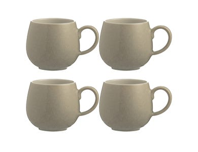 Reactive Set Of 4 Stone Mugs