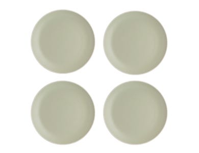 Classic Collection Set 4 Green Dinner Plates