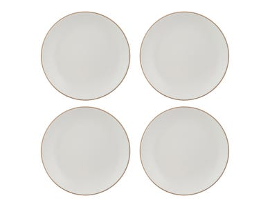 Classic Collection Set 4 Cream Dinner Plates