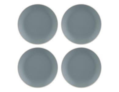 Classic Collection Set 4 Grey Dinner Plates