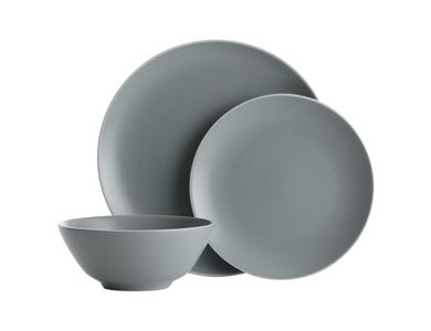 Image for Classic Collection Grey 12 Piece Dinner Set