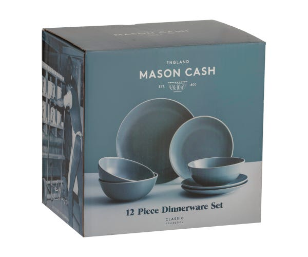 Classic Collection Grey 12 Piece Dinner Set