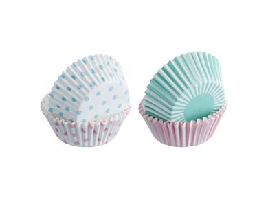 Image for Set 100 Mixed Pastel Cupcake Cases