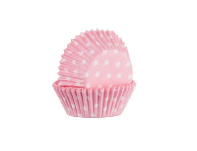 Image for Set 60 Pink Polka Mini Cases