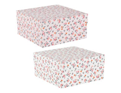 "12"" Blossom Cake Box - Assorted"